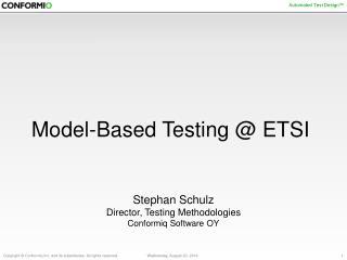 Model-Based Testing @ ETSI
