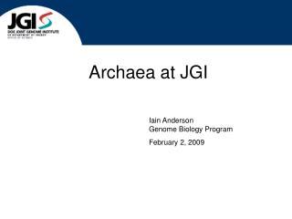 Archaea at JGI
