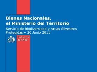Bienes Nacionales,  el Ministerio del Territorio