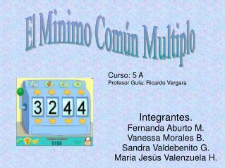 Integrantes. Fernanda Aburto M. Vanessa Morales B. Sandra Valdebenito G. Maria Jesús Valenzuela H.
