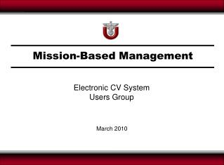Mission-Based Management