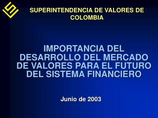 IMPORTANCIA DEL DESARROLLO DEL MERCADO DE VALORES PARA EL FUTURO DEL SISTEMA FINANCIERO