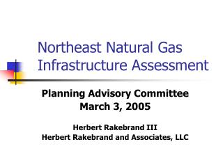 Northeast Natural Gas Infrastructure Assessment