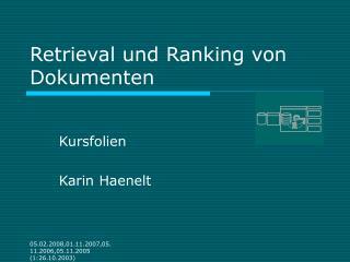 Retrieval und Ranking von Dokumenten