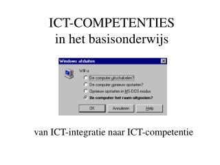 ICT-COMPETENTIES  in het basisonderwijs