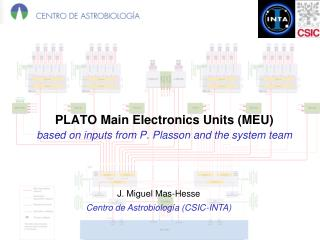 PLATO Main Electronics Units (MEU) based on inputs from P.  Plasson  and the system team