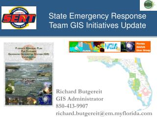 State Emergency Response Team GIS Initiatives Update