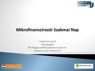 Mikrofinanszírozói Szakmai Nap
