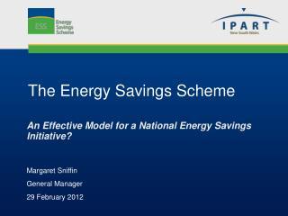 The Energy Savings Scheme