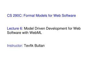 Model Driven Development (MDD)