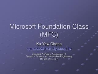 Microsoft Foundation Class (MFC)