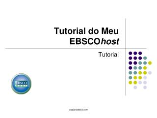 Tutorial do Meu EBSCO host