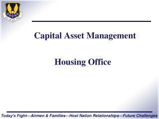 Capital Asset Management Housing Office