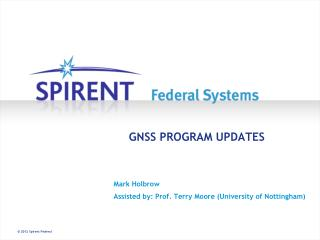 GNSS PROGRAM UPDATES
