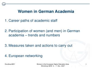 Women in German Academia