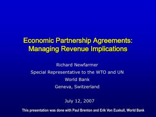 Economic Partnership Agreements: Managing Revenue Implications