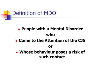 Definition of MDO