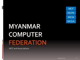 Myanmar   Computer    Federation