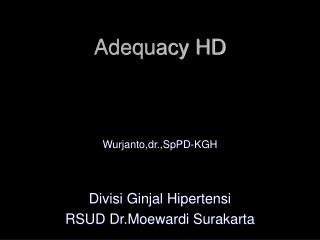 Adequacy HD