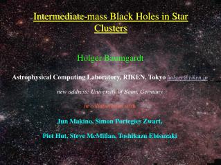 Intermediate-mass Black Holes in Star Clusters