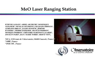 MeO Laser Ranging Station