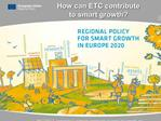 How can ETC contribute  to smart growth