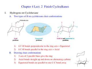 Chapter 4 Lect. 2  Finish Cycloalkanes