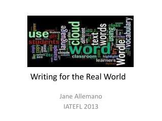 Jane  Allemano IATEFL 2013