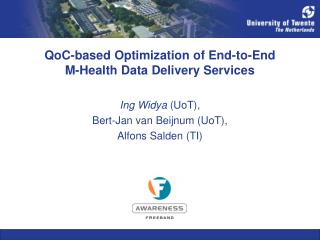 QoC-based Optimization of End-to-End M-Health Data Delivery Services