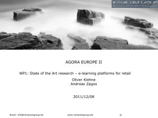 AGORA EUROPE II WP1: State of the Art research – e-learning platforms for retail