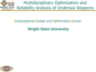 Multidisciplinary Optimization and Reliability Analysis of Undersea Weapons