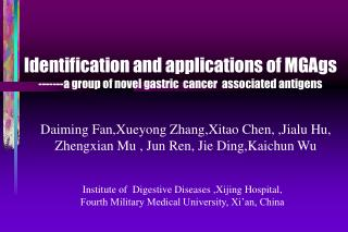 Institute of  Digestive Diseases ,Xijing Hospital,