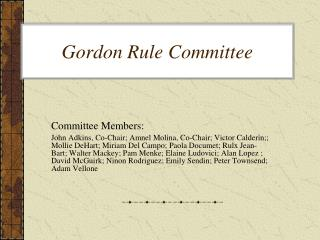 Gordon Rule Committee