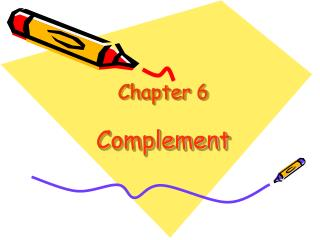 Chapter 6 Complement