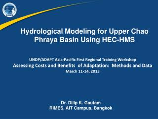 Hydrological Modeling for Upper Chao Phraya Basin Using HEC-HMS