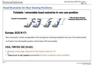 Head Restraints for Rear Seating Positions
