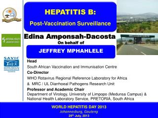 WORLD HEPATITIS DAY 2013 Johannesburg, Gauteng 29 th  July, 2013