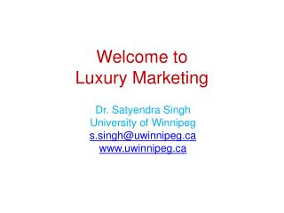 Welcome to Luxury Marketing