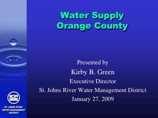 Water Supply  Orange County