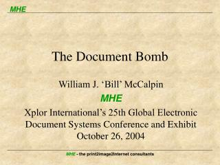 The Document Bomb