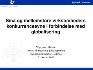 Små og mellemstore virksomheders konkurrenceevne i forbindelse med globalisering