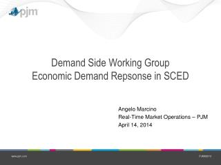Demand Side Working Group Economic Demand Repsonse in SCED