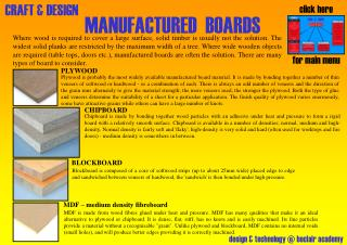 MANUFACTURED  BOARDS