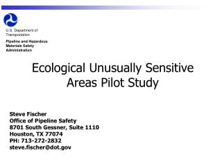 Ecological Unusually Sensitive Areas Pilot Study