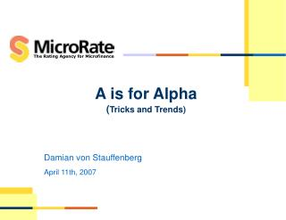 A is for Alpha ( Tricks and Trends)