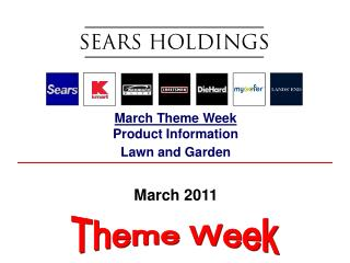 March Theme Week Product Information Lawn and Garden