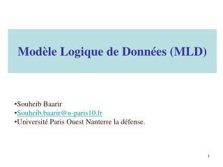 Modèle Logique de Données (MLD)