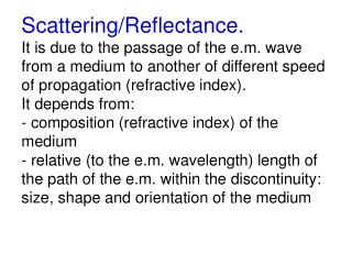 SCATTERING: