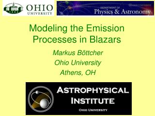 Modeling the Emission Processes in Blazars