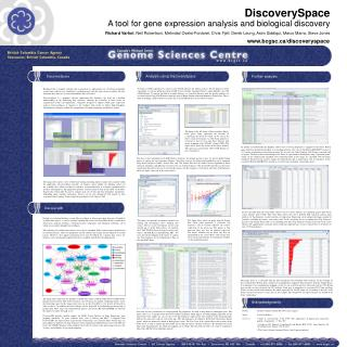 DiscoverySpace A tool for gene expression analysis and biological discovery